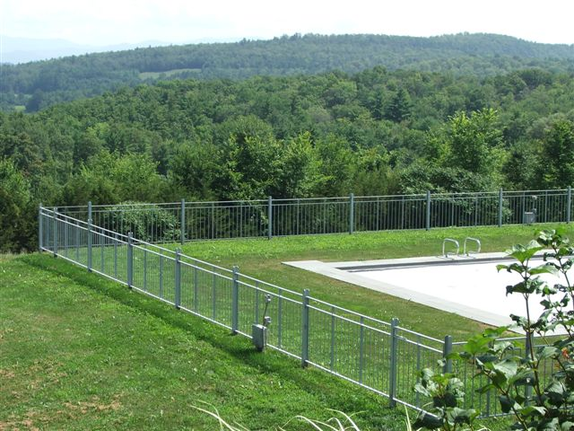 3oo feet galvanized rail around pool, Bridport, VT