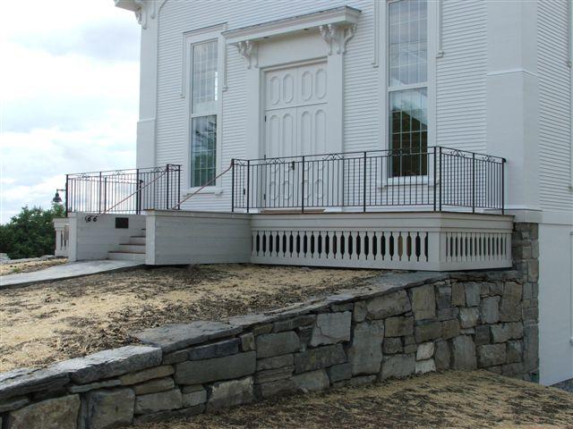 Exterior railing - Grange, Ferrisburgh, VT
